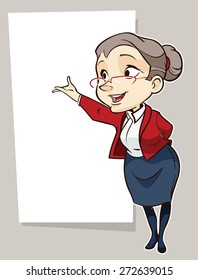 Vector drawing of an old lady