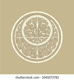 Vector drawing of an ornament on the astrolabe