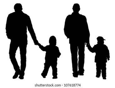 Vector drawing parents and childs