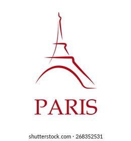 Vector Drawing sign Paris