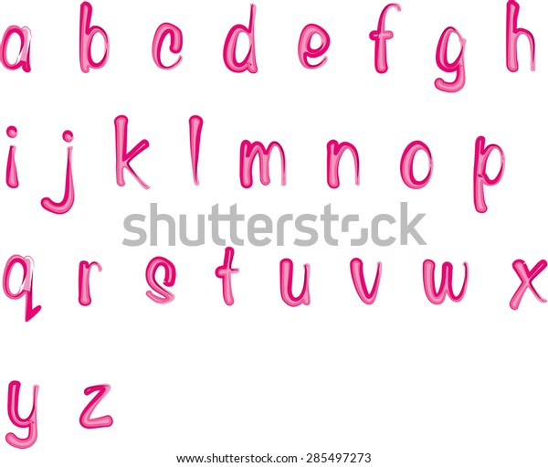 Vector Drawing Small Letters Z Design Stock Vector (Royalty Free