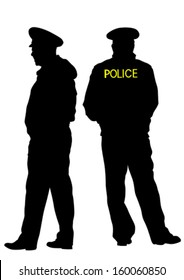 Vector drawing of special police force