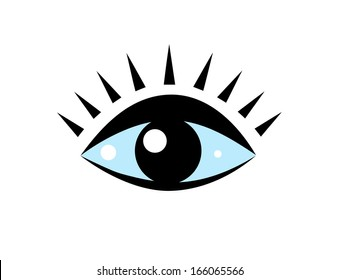 Vector drawing of the stylized eye, as symbol.