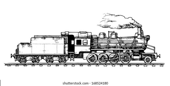 Train Drawing Images, Stock Photos & Vectors | Shutterstock