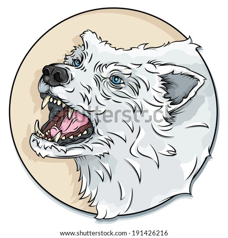 Vector Drawing Wolf Head Wolf Head Easy Stock Vector Royalty Free