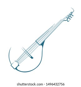 Vector drawn mandolin. Isolated on white background.