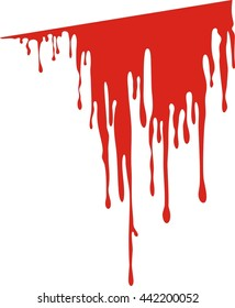 Vector dripping blood. Blood liquid, vector illustration