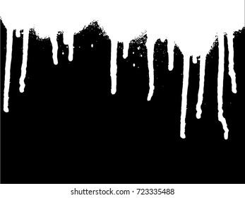 Vector dripping paint. Paint drips background.