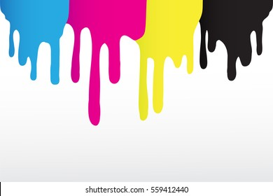Vector dripping paint.Paint drips background.