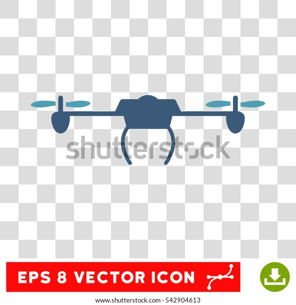 Vector Drone EPS vector pictograph. Illustration style is flat iconic bicolor cyan and blue symbol on a transparent background.