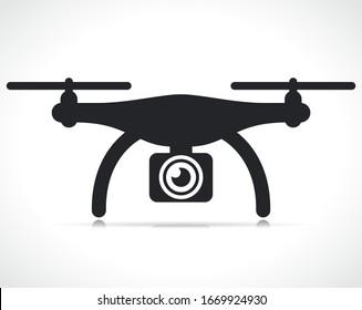Vector drone icon symbol design