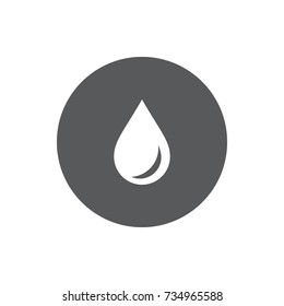 Vector drop Icon on white background.