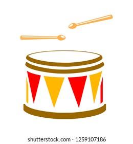 vector drum icon
