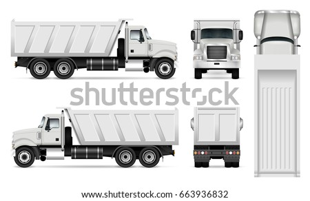 vector dump truck template car branding のベクター画像素材