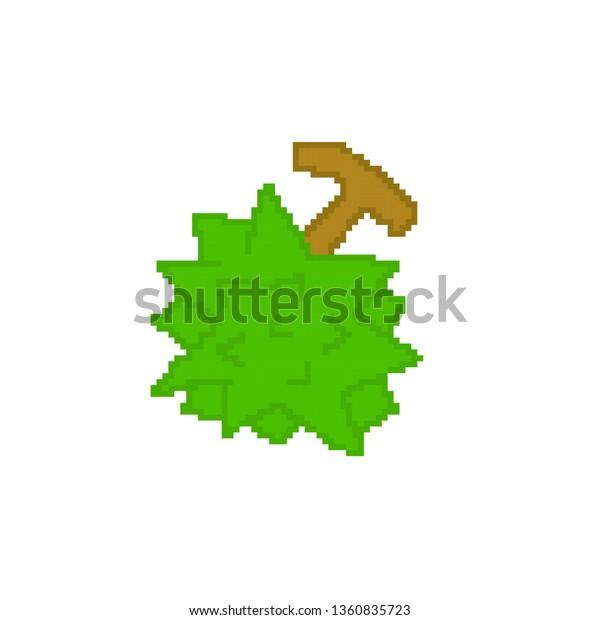 Vector Durian Concept Pixel Art Stock Vector Royalty Free