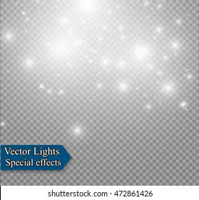 vector dust on a transparent background