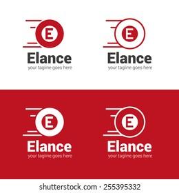 Vector E letter car wheel logotype