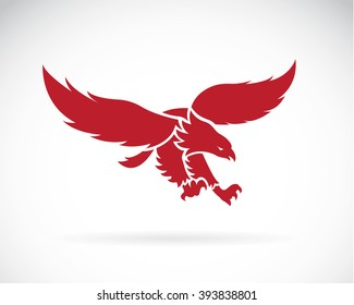 Vector of  eagle design on white background, Wild Animals, Vector illustration.