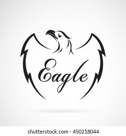 Vector of eagle design on white background. Vector eagle for your design.