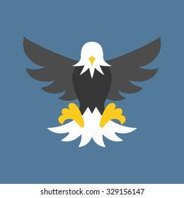 Vector eagle icon, flat design