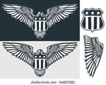 Vector eagle & shield