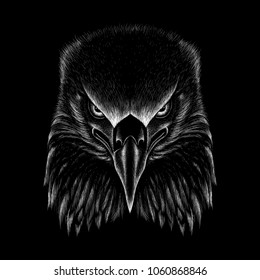 The vector eagle for t shirt print.