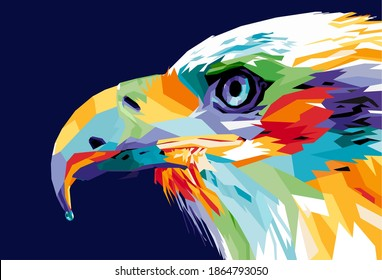Vector of Eagle's head in popart illustration