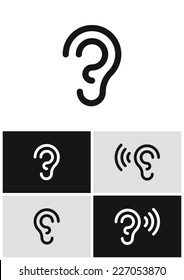 Vector ear icon