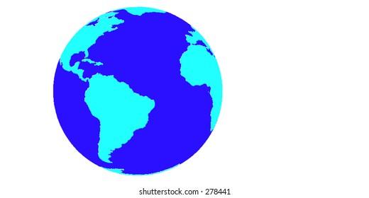 Vector Earth globe.