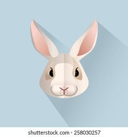 Vector easter bunny portrait