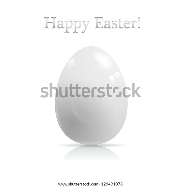 Vector easter card with glossy egg