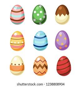 Vector  Easter, Easter eggs