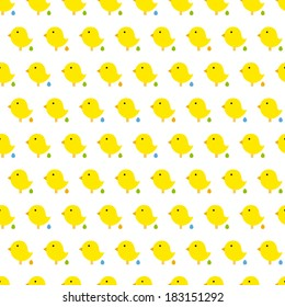 Vector Easter Seamless Pattern With Chicken And Egg