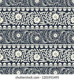 vector eastern florish border pattern. design for covers, print, woodblock, cards