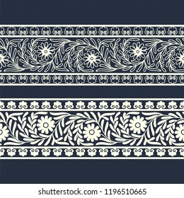 vector eastern florish border template. design for covers, print, woodblock, cards