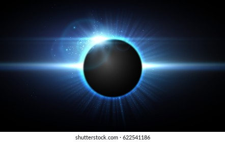 Vector eclipse in space, cosmic background