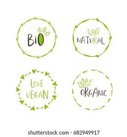 vector eco bio green logo sign stock vector royalty free 678566404