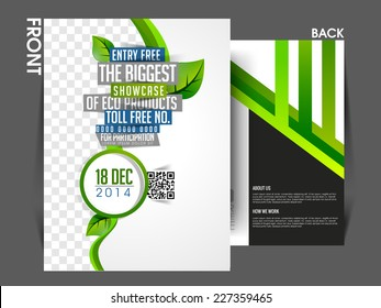 vector eco front back flyer template poster coverbrochure design