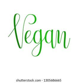 Vector Eco Slogan. Vegan.  Hand written modern calligraphy