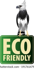Vector Eco Sticker with harpy eagle
