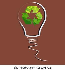 Vector ecology concept - bulb design