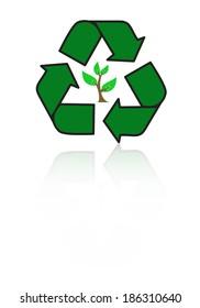 Vector ecology concept , tree design