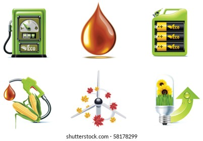 Vector ecology icon set. Part 1