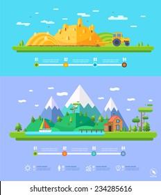 vector ecology illustration infographic elements flat design. Eco life