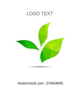 Vector ecology logo or icon in eps, nature logotype
