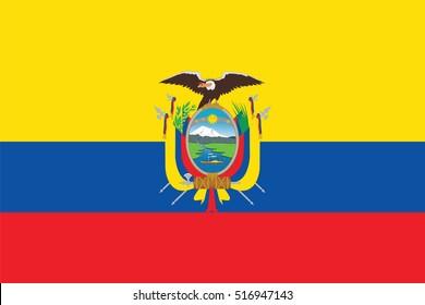 Vector Ecuador flag, Ecuador flag illustration, Ecuador flag picture, Ecuador flag image,