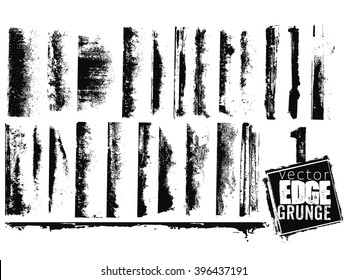 Vector edge grunge isolated