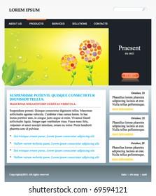 Vector editable web site template
