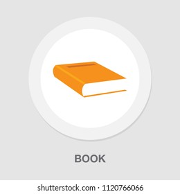vector education book isolated, learning icon
