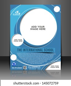 Vector Education Ceneter brochure, flyer, magazine cover & poster template.